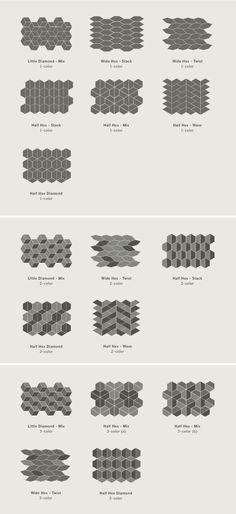 #Kitchen tile pattern. Little Diamond tile from the Dwell…