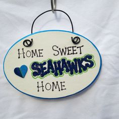 Home Sweet Seahawks Home Sign on Etsy, $8.00