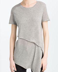 Image 3 of ASYMMETRIC T-SHIRT from Zara