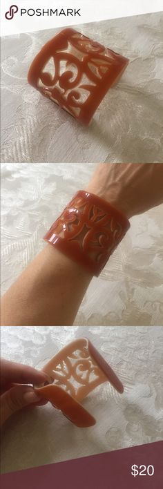 Cuff bracelet Gorgeous and very unique.  Amber, like burnt orange color. Jewelry Bracelets