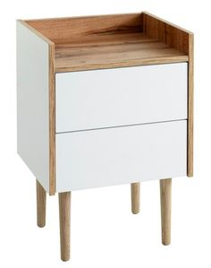 Bedside, Nightstand, White Oak, Pusheen, Drawers, Ikea, Bedroom, House, Furniture