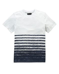 Label J Scratch Stripe T-Shirt Long | Fashion World