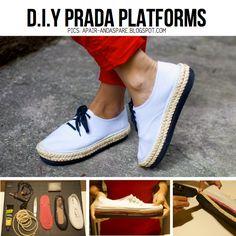 13 Awesome DIY Projects - DIY Prada Platforms