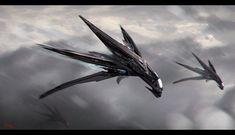 Concept Ship by Leonardo Calamati Space Ship Concept Art, Concept Ships, Weapon Concept Art, Spaceship Art, Spaceship Design, Spaceship Drawing, Futuristic Art, Futuristic Technology, Stargate