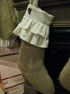 great Christmas stocking and other uses for burlap
