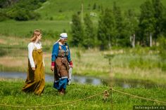 Russian reenactor's interpretation of the Pskov find. At the Isaborg festival in 2013