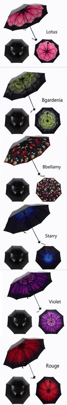 Mini Umbrella Parasol Umbrella Rain Women Parapluie 2016 News Fashion Folding Umbrella UV Sun Parasol / Umbrella New Creative