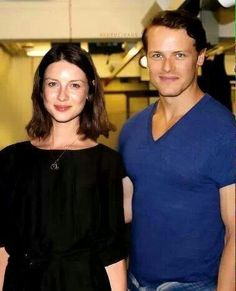 SAM AND CAITRIONA - AFTER BEING CAST FOR OUR FAVORITE CHARACTER'S.