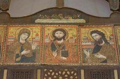 Deisis in St Barbara, Cairo Saint Barbara, Religious Icons, Christian Art, Cairo, Ikon, Middle East, Egyptian, Textiles, History