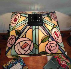 Lampada da Tavolo Tiffany con Fiori 311