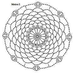 crochet tunic — crochet by Crochet Mandala Pattern, Crochet Flower Patterns, Crochet Diagram, Crochet Chart, Crochet Puff Flower, Crochet Flowers, Crochet Tunic, Diy Crochet, Crochet Tablecloth