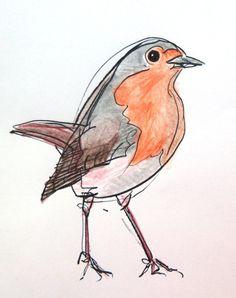Vogels tekenen | haal adem. glimlach.