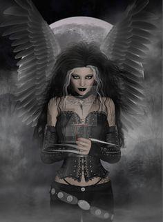 I love dark angels Gothic Angel, Gothic Fairy, Gothic Fantasy Art, Dark Fantasy Art, Angeles, Dark Wings, Beautiful Dark Art, Dark Artwork, Angel Warrior