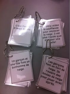 Primary French Immersion Resources: Winter vocabulary games