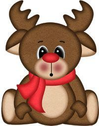 """Reindeer Rudy """"Oh"""" Christmas Graphics, Christmas Clipart, Christmas Printables, Christmas Pictures, Christmas Art, All Things Christmas, Christmas Decorations, Christmas Ornaments, Bastelarbeit Winter"""