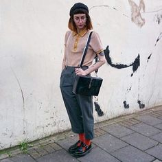 Dr martens polley smooth in 2019 Thrift Fashion, Indie Fashion, Grunge Fashion, 90s Fashion, Dr. Martens, Le Happy, Mary Jane Outfit, Dr Martens Outfit, Mode Lookbook