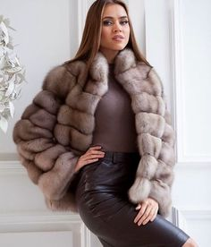 Dyed Russian Sable Fur Jacket