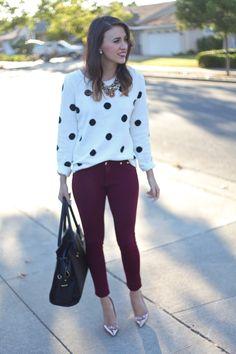 Forever 21 sweater, pants, & necklace (similar) | Shoemint Joanna heels | Graceship New York bag
