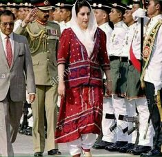 Benazir Bhutto Shaheed in cultural dress of Sindh