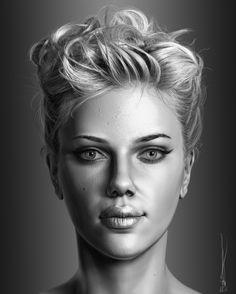 Showcase of unbelievably realistic portraits human face drawings рисунки 3d Portrait, Pencil Portrait, Female Portrait, Realistic Pencil Drawings, 3d Drawings, Zbrush, Realistic Rose, Drawn Art, Celebrity Portraits
