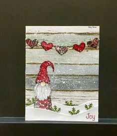 Joy by jandjccc - Cards and Paper Crafts at Splitcoaststampers Stamped Christmas Cards, Christmas Card Crafts, Homemade Christmas Cards, Christmas Cards To Make, Xmas Cards, Homemade Cards, Handmade Christmas, Holiday Cards, Valentine Cards