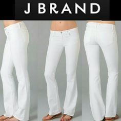 1 WEEK ONLY SALEJ Brand White Jeans J Brand Bootcut white jeans. 32 inch inseam Pure white and excellent Condition ONE WEEK ONLY SALE April 24-30 J Brand Jeans