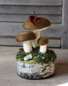 felted mushrooms | Fiber Arts | Pinterest