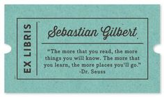 Quotable Bookplate by Olivia Raufman for Minted.