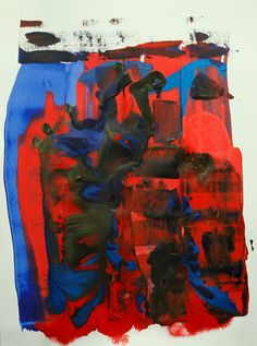 Abstract, mixed media, 18in. x 24in. Bristol, 30.01.2015, © Hugh S. Myers
