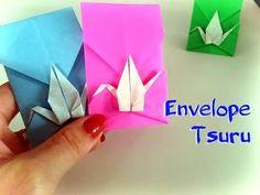 Como fazer Origami Envelope Tsuru (Grou) - Passo a Passo - YouTube