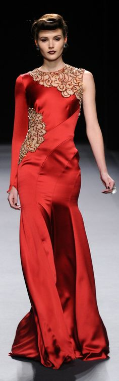 BORDEAUX & RED DRESS - for George