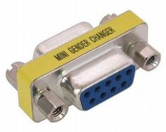 Com port Gender Changer Adapter is Female to Female RS232 Serial Adapter. Female to Female Serial RS232 9 pin Adapter will Converts a Serial RS232 DB9-pin Female to Female connection, need together with existing male Com port Serial RS232 cables.