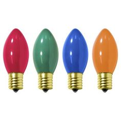 Retro Christmas Light Set, C9 Multi Ceramic Incandescent, Target . http://www.target.com/p/holiday-c9-replacement-bulbs-ceramic-multi-color-4ct/-/A-15337531#prodSlot=medium_1_2&term=multi+ceramic+lights