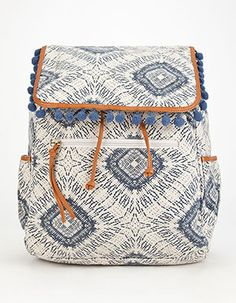 Paxton Pom Backpack Blue