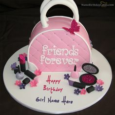 write name on Fashion Birthday Cake For Girls picture