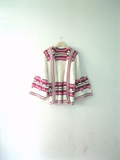 Vintage 70s Hippie sweater / Southwest by TheBlueSkyBoutique