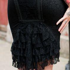 Jawbreaker Victorian Lace Pencil Skirt Gothic Punk Wiggle Rockabilly Steampunk | eBay