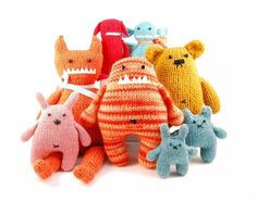 Alice wonderful knitted monsters make me smile :)