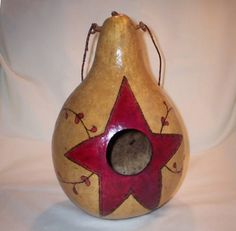 primitive star birdhouse