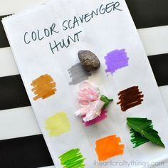 This simple color scavenger hunt for kids is unbelievably easy to throw together last minute and the kids have fun with it every single year.