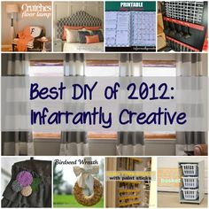 DIY Home Projects   Best DIY of 2012 on Infarrantly Creative
