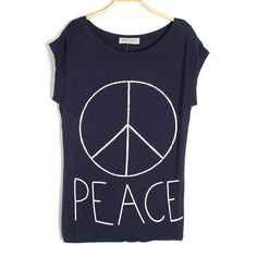 Peace Sign Batwing T-shirt
