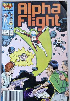 Alpha Flight Auction Comic Book Marvel 25th by RetroRevolution, $5.75