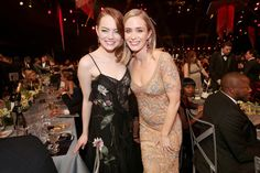 Emily Blunt Photos Photos - Actors Emma Stone and Emily Blunt during The 23rd Annual Screen Actors Guild Awards at The Shrine Auditorium on January 29, 2017 in Los Angeles, California. 26592_012 - The 23rd Annual Screen Actors Guild Awards - Roaming Show