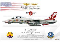 "F-14A ""Tomcat"" VF-111 ""Sundowners"" DP-15                                                                                                                                                                                 More"