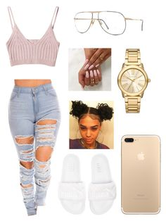 """Untitled #306"" by saratwin12 ❤ liked on Polyvore featuring StyleNanda, Christian Dior, Michael Kors and Puma"