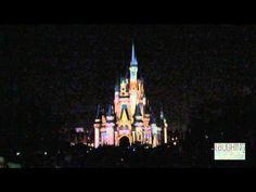 The Magic, the Memories and You Holiday Castle show at WDW was amazing.  They are projecting pictures taken during the day throughout the whole show but they are hard to see on the video.
