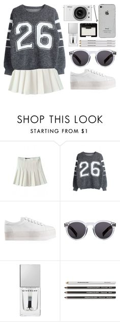 """""""cheerful"""" by vogueordie on Polyvore featuring Jeffrey Campbell, Nikon, Illesteva, Givenchy, NARS Cosmetics, BOBBY, women's clothing, women, female and woman"""
