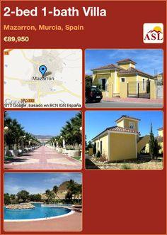 2-bed 1-bath Villa in Mazarron, Murcia, Spain ►€89,950 #PropertyForSaleInSpain