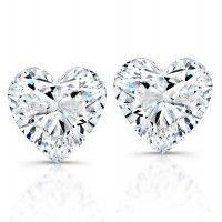 Heart Shaped Diamond Studs  03247fd82b96
